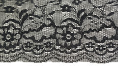 Black openwork lace Stock Photos