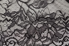 Black openwork lace Royalty Free Stock Photos