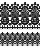 Black openwork lace seamless border. Royalty Free Stock Images