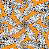 Black and orang pattern. Vector seamless Black and orang pattern.  on white Stock Photos