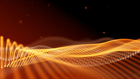 Black and orange abstract fantasy technology background. 3D rendering Stock Image