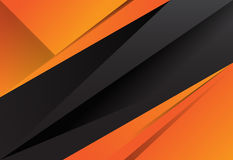 Black And Orange Abstract Layer Geometric Background Stock