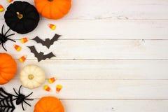 Free Black, Orange And White Halloween Side Border Over White Wood Royalty Free Stock Photo - 126445565