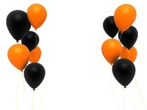 Black and Orange balloons stock images