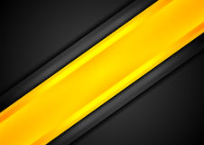 Black and orange contrast striped background Stock Images