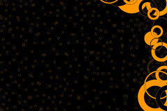 Black and Orange Design Backgr Stock Photography