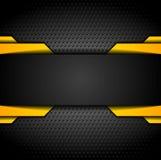 Black and orange design on metallic background Royalty Free Stock Image