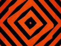Black and orange diamond shapes background. Textured orange and black striped diamond shapes background Stock Photo