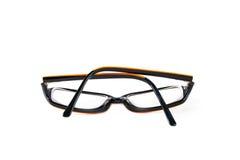 Black with orange glasses Stock Photo