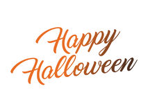 Black and orange gradient isolated hand writing word HAPPY HALLO. The black and orange gradient isolated hand writing word HAPPY HALLOWEEN on white background Royalty Free Stock Image