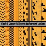 Black & Orange Halloween Background Designs. Eps10 Royalty Free Stock Image