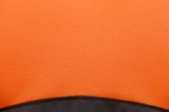 Black and orange lather texture background Stock Image
