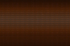 Black and orange metallic polygon honeycomb grid texture pattern background Stock Images