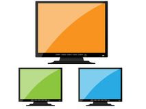 BLack orange monitor royalty free stock photos