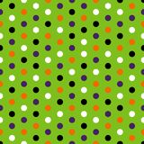 Halloween Polka Dots Seamless Pattern stock illustration