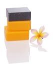 Black and orange soaps Royalty Free Stock Image