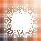 Black, orange square pattern. Pixel mosaic dots Royalty Free Stock Photo