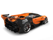 Black and orange supercar - back side view Stock Image