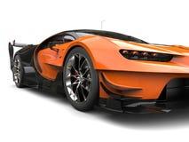 Black and orange supercar - headlight closeup shot Royalty Free Stock Photography
