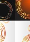 Black and orange template Stock Photos
