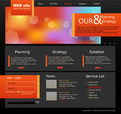 Black and orange Vector Web site for business Stock Images