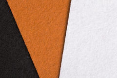 Black, orange and white felt texture for background. Colorful felt texture for background, copy space Stock Photography