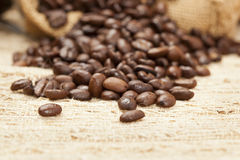 Black Organic Coffee Beans Royalty Free Stock Image