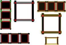 Black oriental frames Stock Image