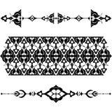 Black oriental ottoman design twenty-five. Versions of Ottoman decorative arts, abstract flowers Stock Photography