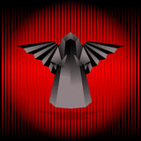 Black origami angel. Royalty Free Stock Image