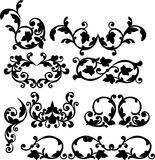 Black ornament. Illustration with black and white ornament.vector illustration Stock Photo