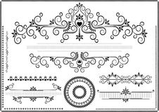 Black ornament border on a white background Stock Images