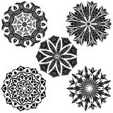 Black ornament collection Stock Photography