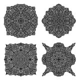 Black ornament collection Royalty Free Stock Photography