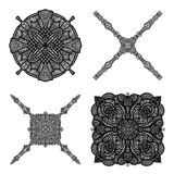 Black ornament collection Royalty Free Stock Photos