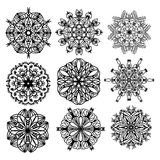 Black ornament collection Royalty Free Stock Images