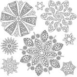 Black Ornament Collection Stock Image