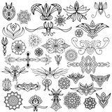 Black ornament collection Royalty Free Stock Photo