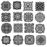 Black ornament collection Stock Images