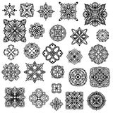 Black ornament collection Royalty Free Stock Image