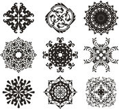Black ornament illustration Royalty Free Stock Images