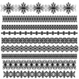 Black ornamental trim collection Stock Photography