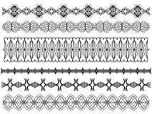 Black ornamental trims Stock Images