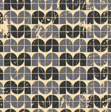 Black ornamental worn textile geometric seamless pattern, vector Royalty Free Stock Photo
