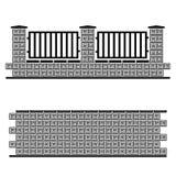 Black ornate brick wall Stock Images