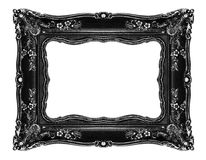 Black ornate frame on white. Black ornate frame -Clipping path Royalty Free Stock Photography