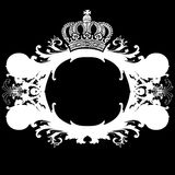 Black And Ornate Heraldic Art Deco Quad Stock Images