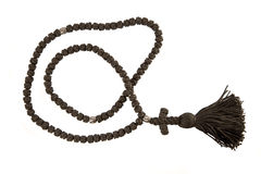 Black orthodox rosary Royalty Free Stock Photos