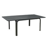 Black outdoor table isolated Stock Images