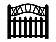 Black outline of a fence Stock Photo